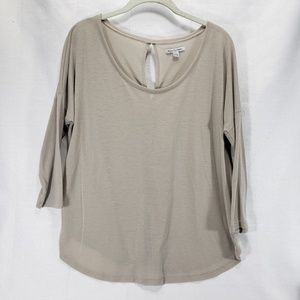 American Eagles Outfitters Beige 3/4 Sleeve Shirt